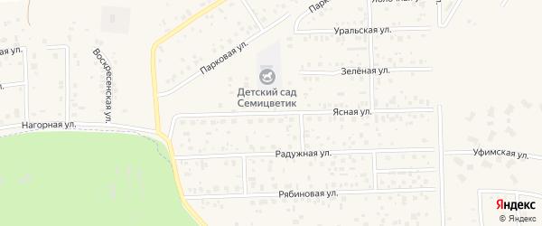 Ясная улица на карте села Булгаково с номерами домов