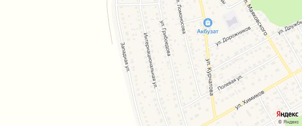 Интернациональная улица на карте села Толбазы с номерами домов