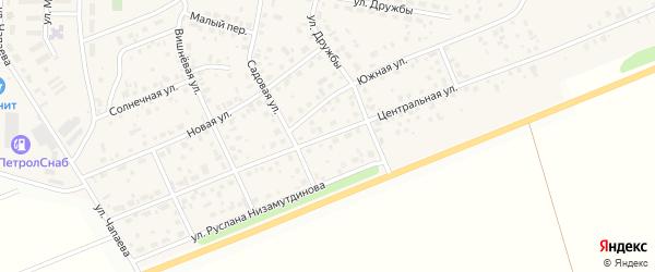 Центральная улица на карте села Нижегородки с номерами домов