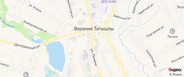 Улица Ленина на карте села Верхние Татышлы с номерами домов