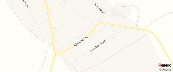 Южная улица на карте села Подлубово с номерами домов