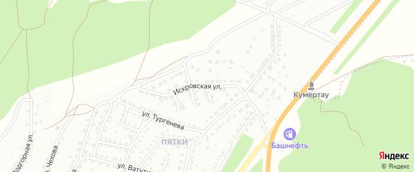 Искровская улица на карте Кумертау с номерами домов