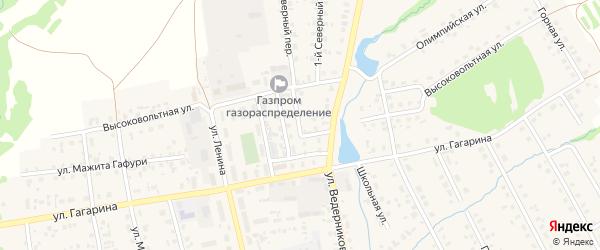 Высоковольтный переулок на карте села Верхние Татышлы с номерами домов