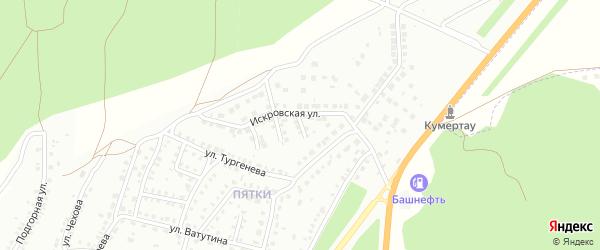 Искровский 1-й переулок на карте Кумертау с номерами домов