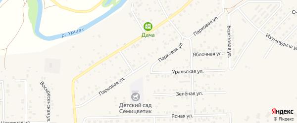 Парковая улица на карте села Булгаково с номерами домов