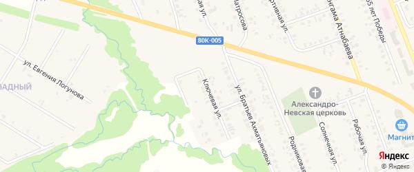 Ключевая улица на карте села Верхние Татышлы с номерами домов