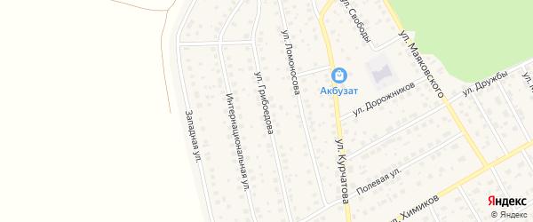 Улица Грибоедова на карте села Толбазы с номерами домов