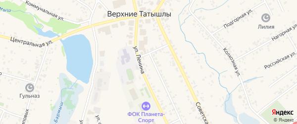 Улица А.Атнабаева на карте села Верхние Татышлы с номерами домов