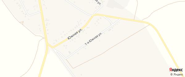 Южная 1-я улица на карте села Подлубово с номерами домов
