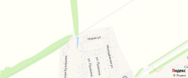 Новая улица на карте села Мариинского с номерами домов