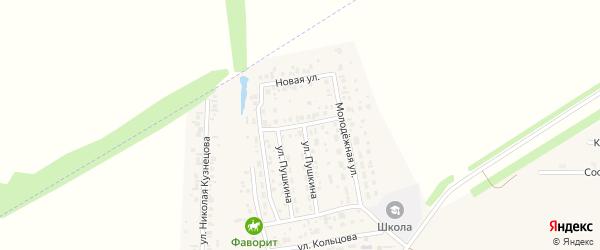 Улица Лермонтова на карте села Мариинского с номерами домов