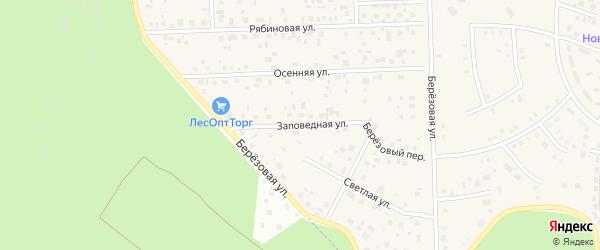 Заповедная улица на карте села Булгаково с номерами домов