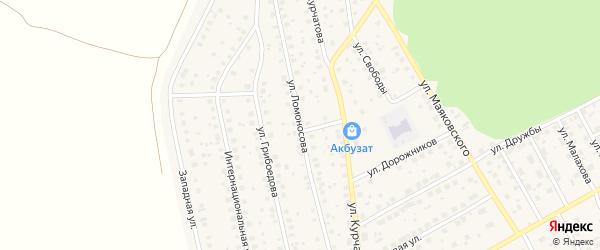 Улица Ломоносова на карте села Толбазы с номерами домов