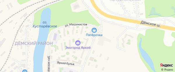 Улица Машинистов на карте Демский района с номерами домов
