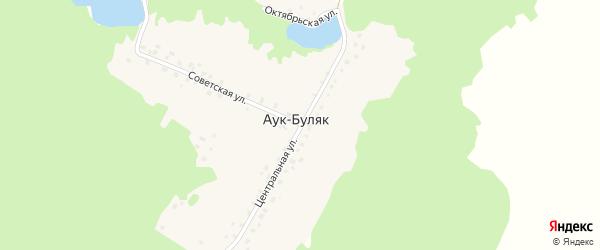 Октябрьская улица на карте деревни Аука-Буляка с номерами домов