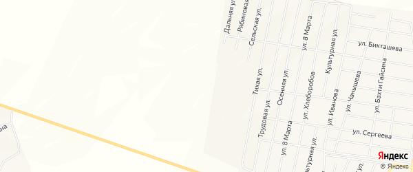 Карта Белогорского хутора в Башкортостане с улицами и номерами домов