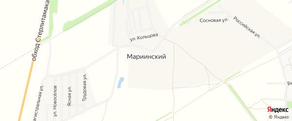 Карта села Мариинского в Башкортостане с улицами и номерами домов