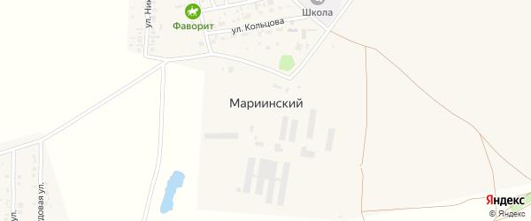 Улица Раевский тракт на карте села Мариинского с номерами домов