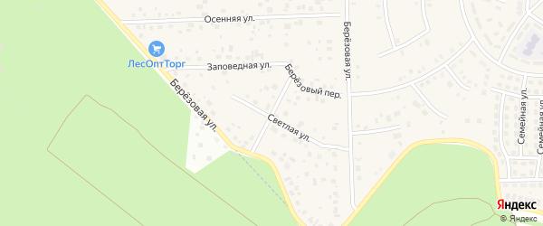 Березовый переулок на карте села Булгаково с номерами домов
