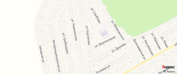 Улица Курчатова на карте села Толбазы с номерами домов
