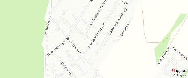 Рождественская улица на карте Кумертау с номерами домов