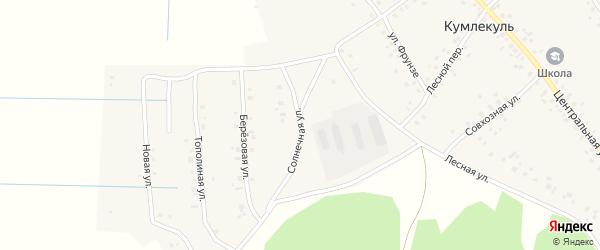 Солнечная улица на карте села Кумлекуля с номерами домов