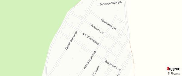 Улица Шахтеров на карте Кумертау с номерами домов
