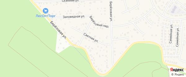 Светлая улица на карте села Булгаково с номерами домов