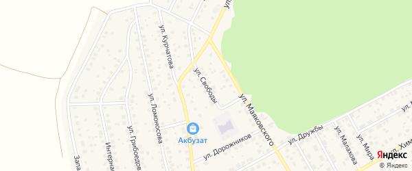 Улица Свободы на карте села Толбазы с номерами домов
