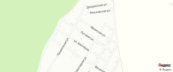 Луговая улица на карте Кумертау с номерами домов