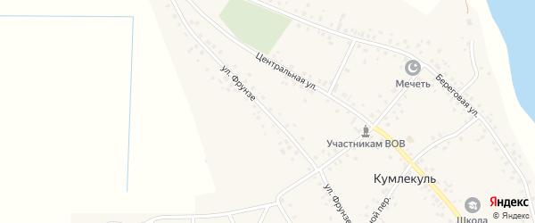 Улица Фрунзе на карте села Кумлекуля с номерами домов