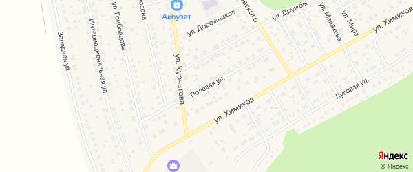 Полевая улица на карте села Толбазы с номерами домов