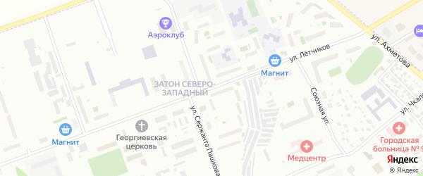 Улица Летчиков на карте Уфы с номерами домов