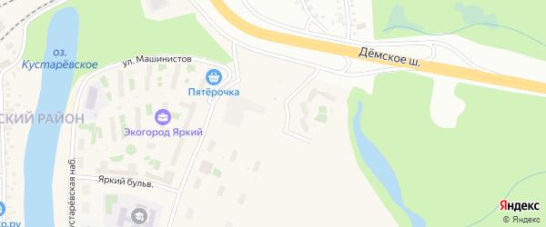 Улица Евгения Столярова на карте Уфы с номерами домов