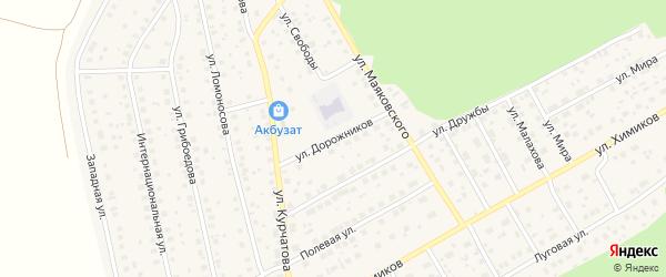 Улица Дорожников на карте села Толбазы с номерами домов