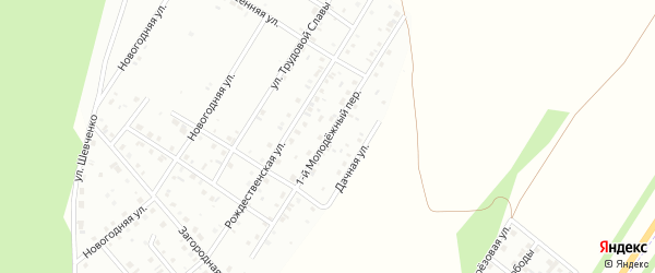 Молодежный 1-й переулок на карте Кумертау с номерами домов