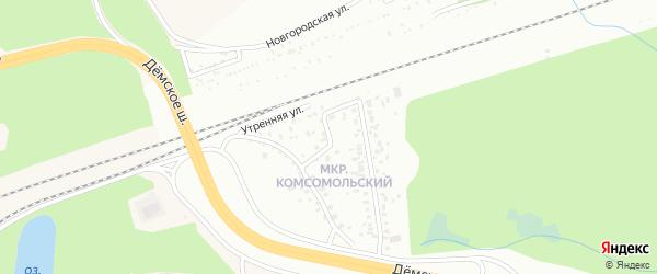 Утренняя улица на карте Уфы с номерами домов