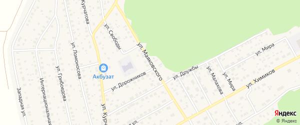 Улица Маяковского на карте села Толбазы с номерами домов