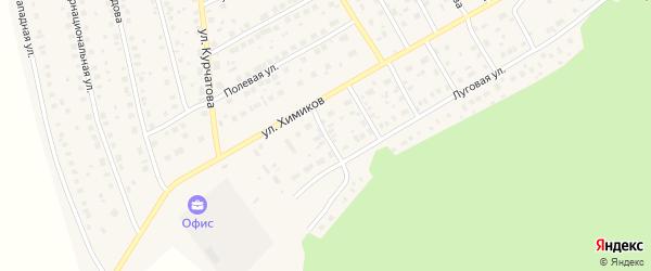 Весенняя улица на карте села Толбазы с номерами домов