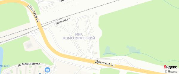 Молодежная улица на карте Уфы с номерами домов