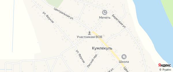 Транспортная улица на карте села Кумлекуля с номерами домов