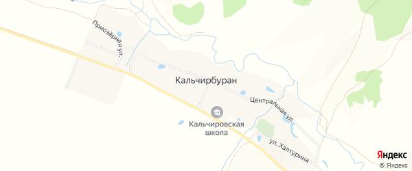 Карта деревни Кальчирбурана в Башкортостане с улицами и номерами домов