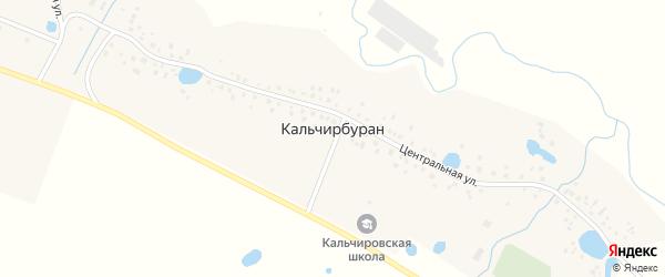 Центральная улица на карте деревни Кальчирбурана с номерами домов