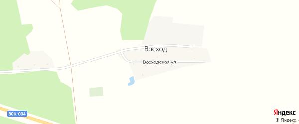 Восходская улица на карте деревни Восхода с номерами домов