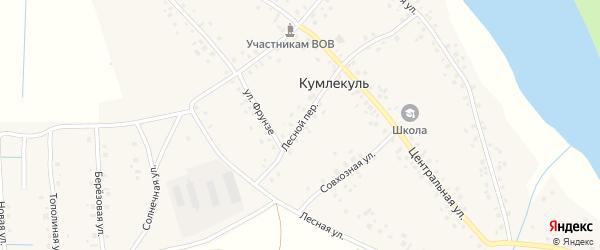 Лесной переулок на карте села Кумлекуля с номерами домов