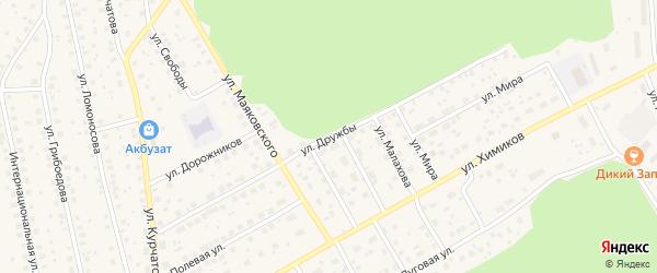 Улица Дружбы на карте села Толбазы с номерами домов