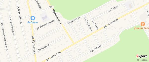 Волочаевская улица на карте села Толбазы с номерами домов