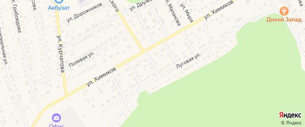 Улица Энтузиастов на карте села Толбазы с номерами домов