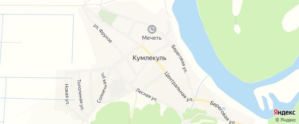 Карта села Кумлекуля в Башкортостане с улицами и номерами домов