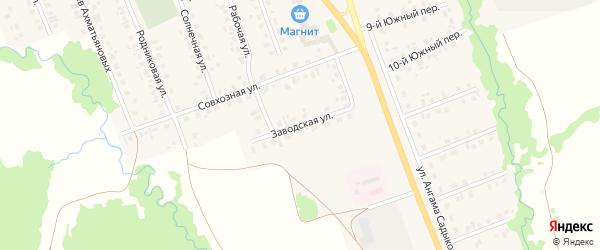 Заводская улица на карте села Верхние Татышлы с номерами домов
